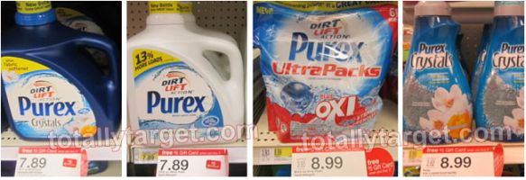 Target: Purex Laundry Detergent as Low as Only 3¢ Per Load After Possible Gift Card Offer (Valid Through 11/9) - http://printgreatcoupons.com/2013/10/22/target-purex-laundry-detergent-as-low-as-only-3%c2%a2-per-load-after-possible-gift-card-offer-valid-through-119/