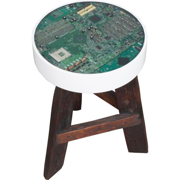 Zuiver Nerd Kruk - 45 cm: wow dit is cool. Past perfect bij Peters zolderhoekje met oude computerspullen en zijn processorschilderij!
