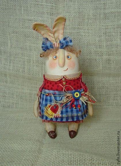 Игрушки животные, ручной работы. Ярмарка Мастеров - ручная работа Девочка кролик. Handmade.