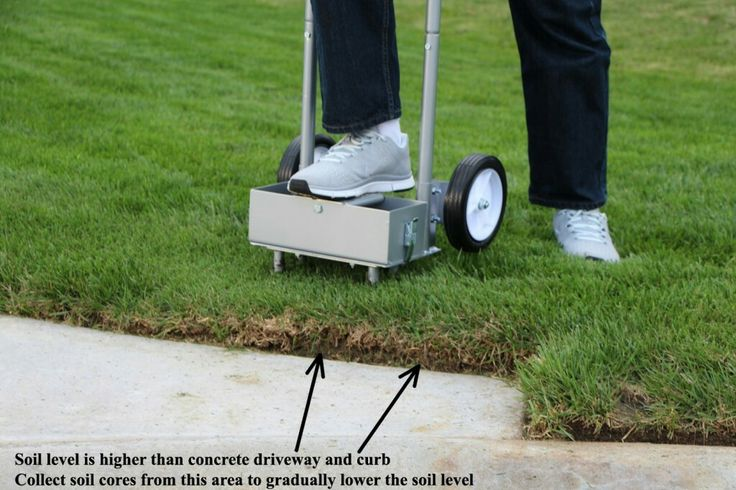 Lawn core aerator with container