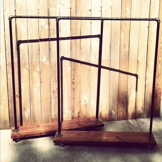 Pipe Garment Rack Stunning Are These Industrial Pipe And Reclaimed Wood Clothing Rack