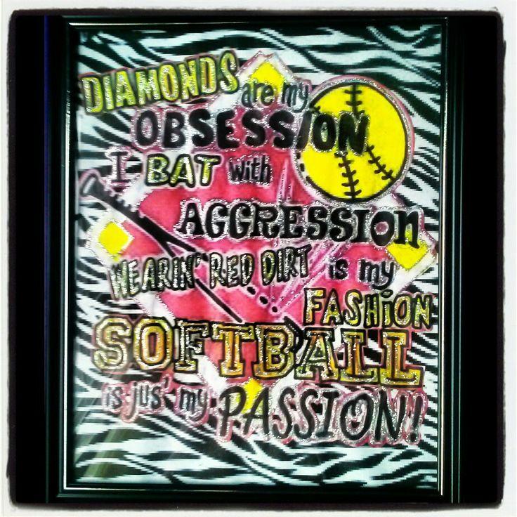 softball diva party decorations and keepsake ! :)