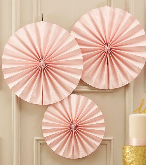 "Papierfächer-Set ""Pastel Perfection"" - rosa - 3-teilig | Rosa | Farbwelten | My Bridal Shower"