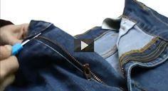 Si la cremallera de tus pantalones u otra prenda de vestir, se ha roto, te mostramos cómo arreglar la cremallera paso a paso, en esta serie de vídeo tutoriales.