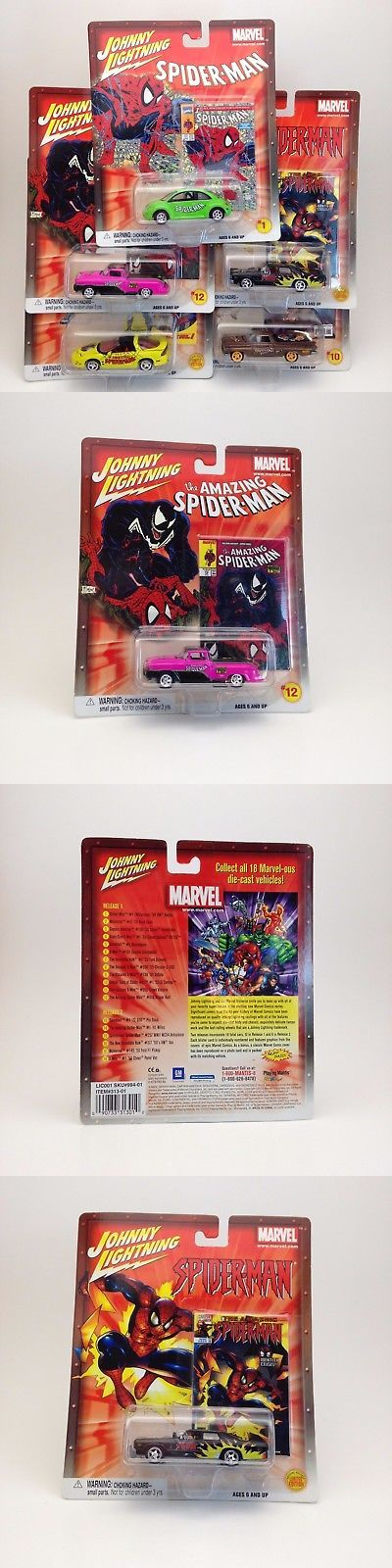 Spider-Man 146094: Marvel Spider-Man Lot Of 5 Johnny Lightning Cars 2002 Toy Figure Spiderman Rare -> BUY IT NOW ONLY: $40 on eBay!