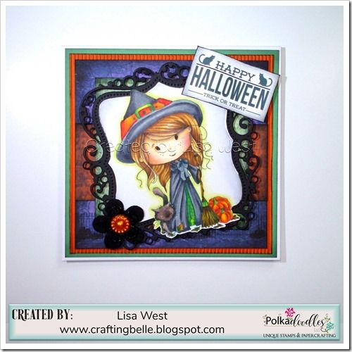 Designed by Lisa West using Winnie Wednesday download kit http://www.polkadoodles.co.uk/winnie-wednesday-halloween-bundle-collection-printable-download/