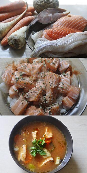 Pikantna zupa rybna z łososiem :) Prosty przepis krok po kroku