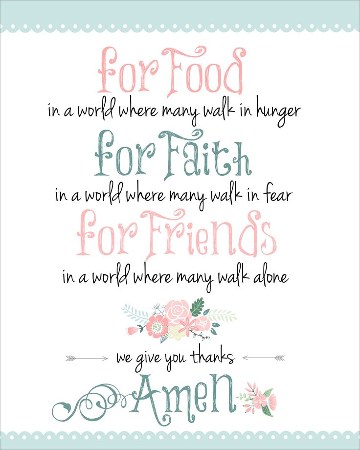 Dinner Prayer Free Printable - How to Nest for Less™