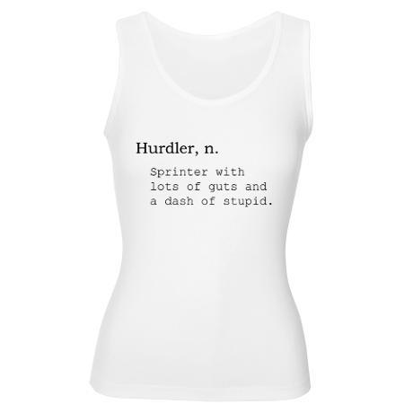 Hurdling. i need this shirt!!!!!!