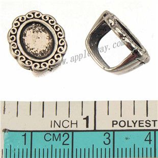 Zinc Alloy Oval Slide Beads,Cabochon Setting,Plated,Cadmium And Lead Free,Various Color For Choice,Approx 21*17*10mm,Hole:Approx 7.5*11mm,Sold By Bags,No 010234