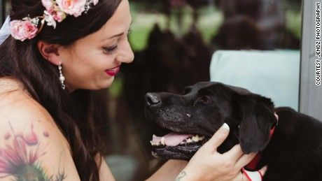 Bride's dying dog sees his person down the aisle - http://www.advice-about.com/brides-dying-dog-sees-his-person-down-the-aisle/