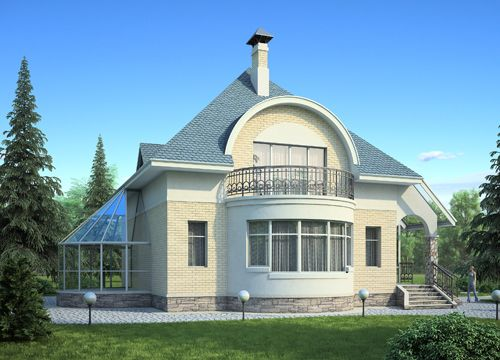 проект дома с эркером