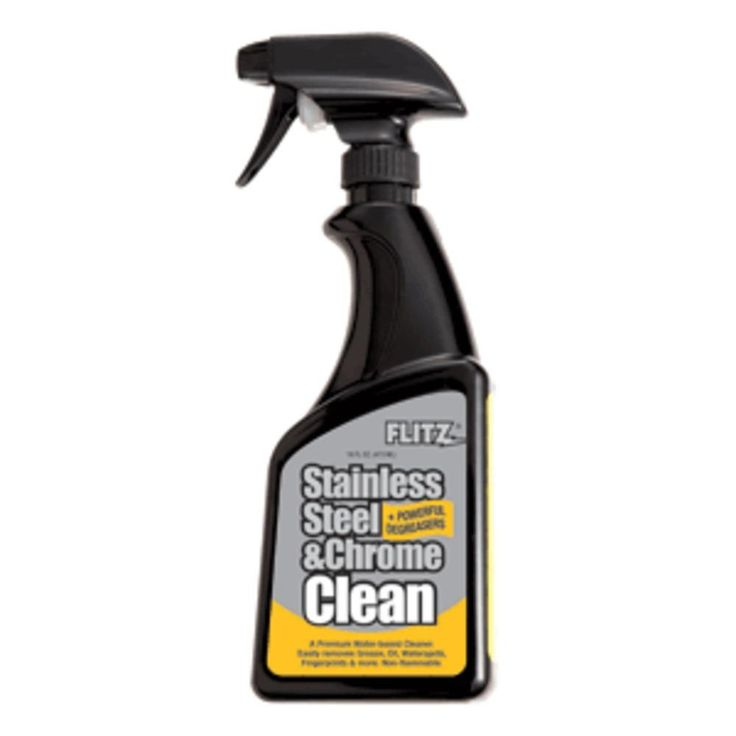 flitz stainless steel chrome cleaner w degreaser 16 oz spray. Black Bedroom Furniture Sets. Home Design Ideas