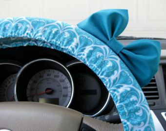 The Original Shades of Blue Chevron Steering Wheel Cover with