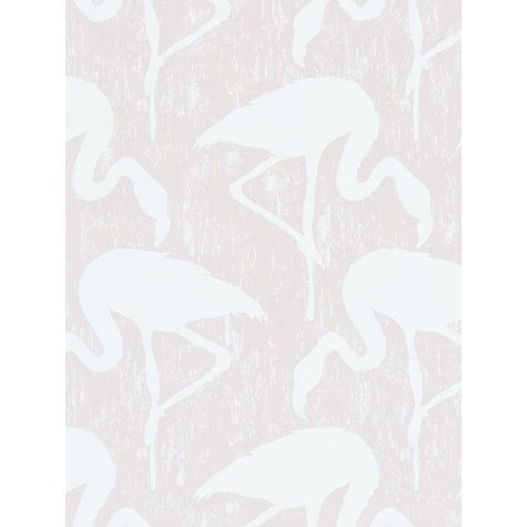 Buy Sanderson Flamingos Wallpaper Online at johnlewis.com