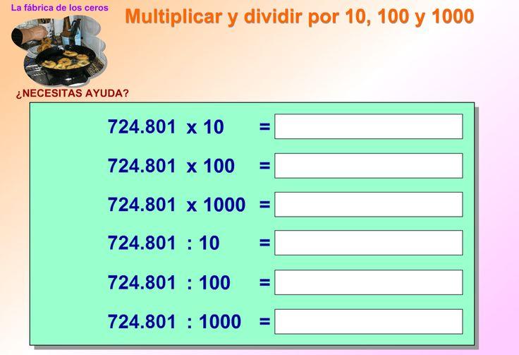 Тренажер деления и умножения десятичной дроби на 10, 100, 1000 и т.д.
