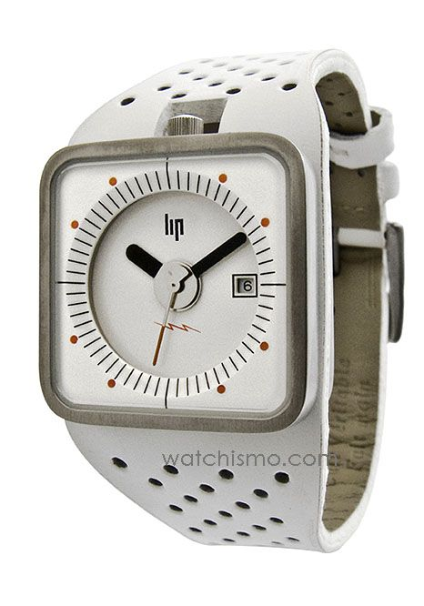 Lip TV Watch White-Steel from Watchismo.com  The Roger Tallon TV watches, originally designed in 1975 and are only now being reintroduced!  WHEN THE INFAMOUS limited-edition Lip Mach 2000 Chronographs that Roger Tallon designed for the French company Lip debuted in 1973, it was an instant hit and became one of the company's most popular timepieces ever.