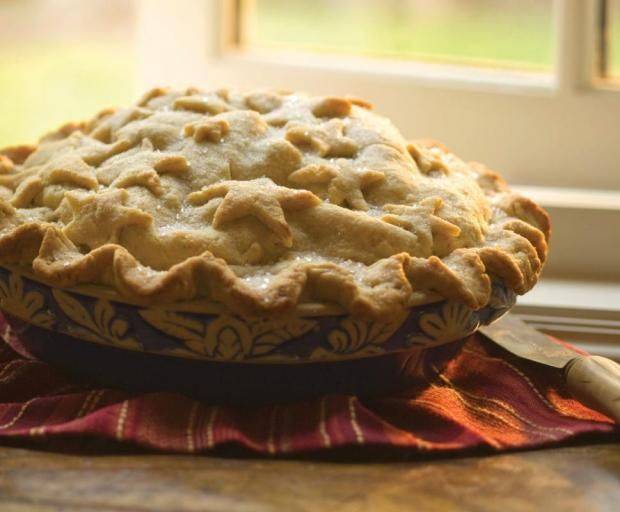 Big as Texas Brandy Apple Pie from the Junior League of Houston's Peace Meals as featured in the Cooking Buzz