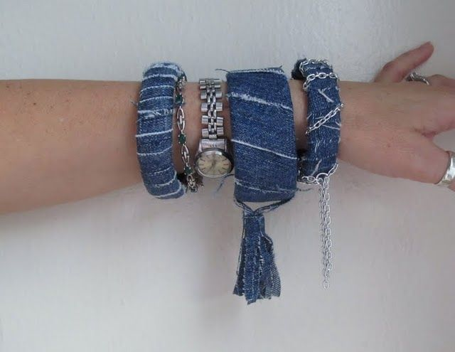 DIY With Jeans & Old Belts | MORE on http://www.pinterest.com/mahochy/denim/