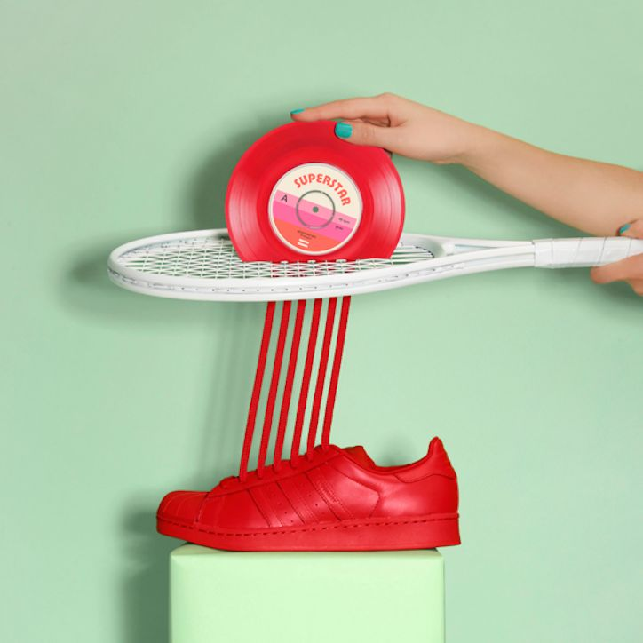 The playful adidas Originals Supercolor is the star of Marion Toys latest art project.