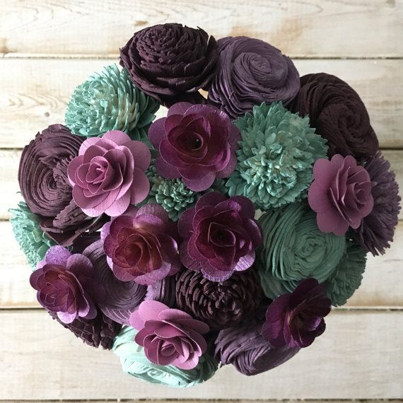 Hey, I found this really awesome Etsy listing at https://www.etsy.com/listing/507927201/purple-and-sea-foam-wooden-flower