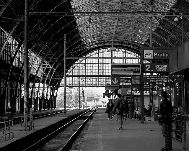 Prague train station. This photograph inspired a scene for The Chimera Vector graphic novel. I hope it turns you on. It turns me on. I've said too much.