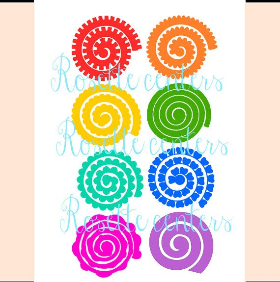 Hanging rosette medallions svg paper flower cut files for Rolled paper roses template