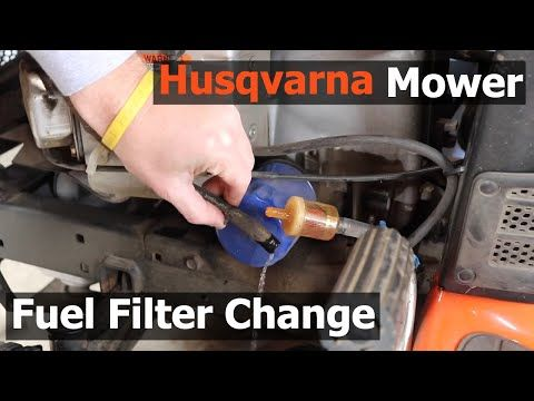 Husqvarna Riding Lawn Mower Fuel Filter Change How To Replace The Fuel Filter On Your Lawn Tractor Youtube In 2020 Riding Lawn Mowers Lawn Tractor Lawn Mower
