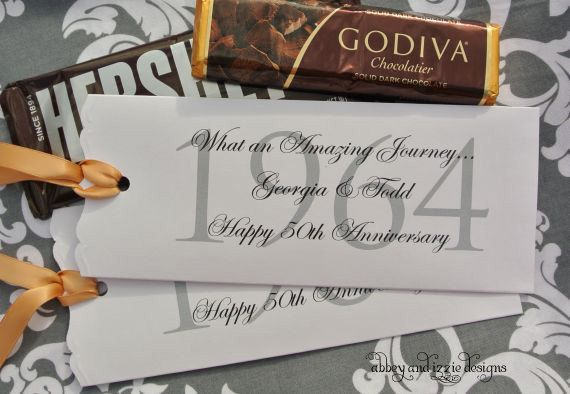 Wedding Anniversary Favors by abbeyandizziedesigns on Etsy