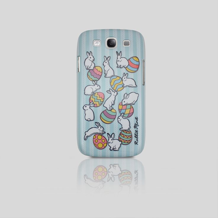 Samsung Galaxy S3 Case - Easter Rabbit - Blue Lace (00063 - S3)