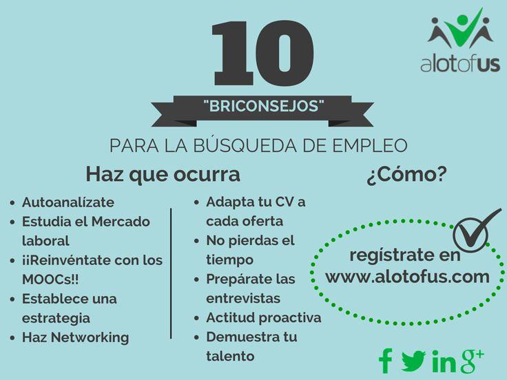 """Infografía: 10 """"Briconsejos"""" para la búsqueda de empleo."""