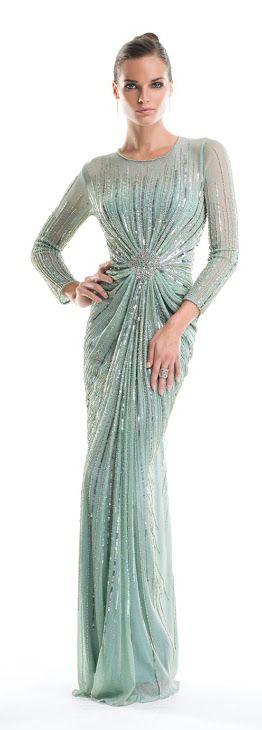 Alberto Makali Mint Gown