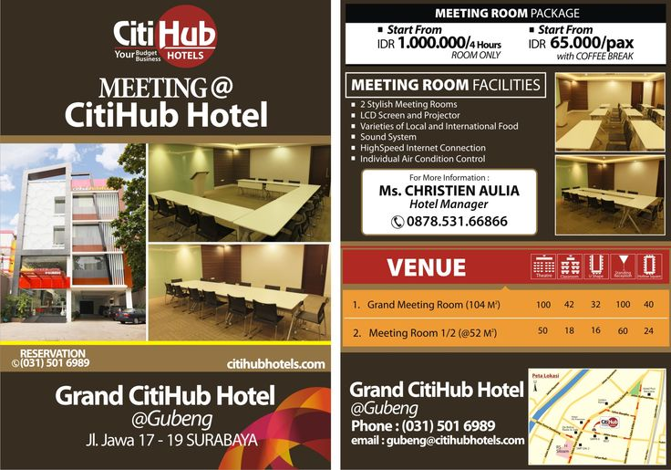 Brochure Meeting Room Grand Citihub Hotel Gubeng