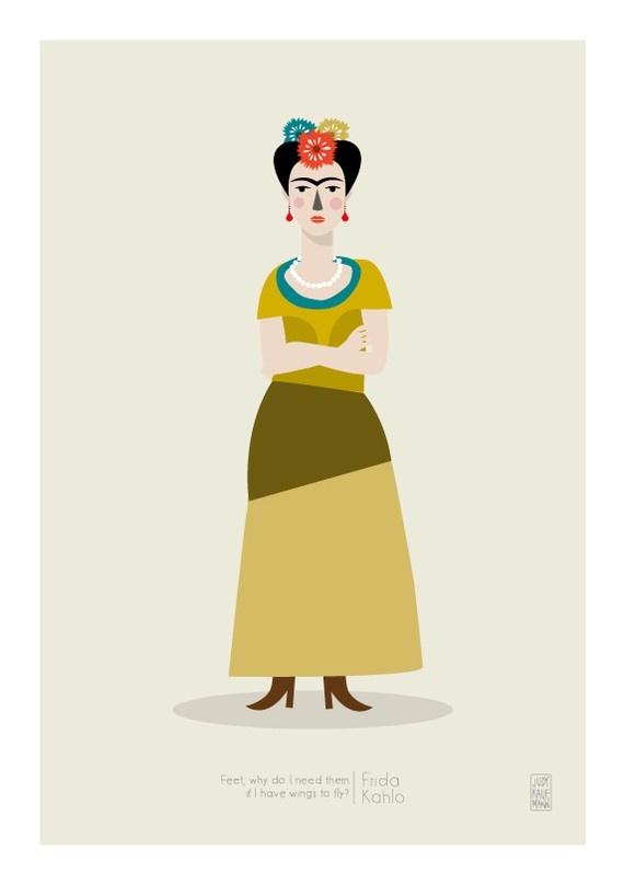 Illustration of Frida Kahlo