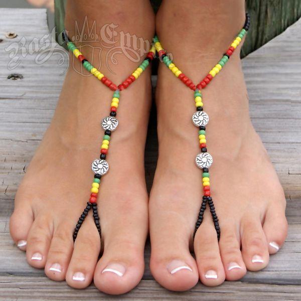 Rasta Barefoot Sandal Jewelry