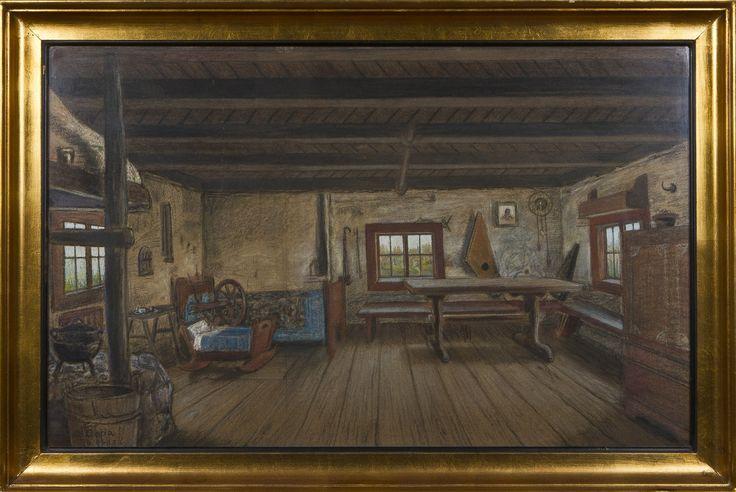Wettenhovi-Aspa's painting; Paikkarin torppa (53 x 85 cm)