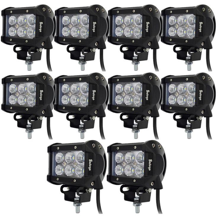 114.72$  Buy now - http://alil7r.shopchina.info/1/go.php?t=1622976005 - 10pcs LED Bar 18W Led Work Light Bar 12V Led Tractor Work Light for Truck Car 4X4 ATV Off Road Fog Lights Led Offroad Light Bar 114.72$ #buyonlinewebsite