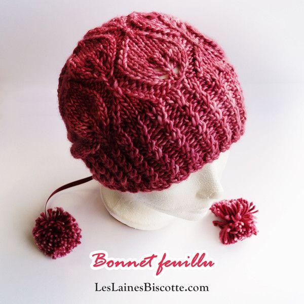 Patron Bonnet Feuillu - Les Laines Biscotte  - 1