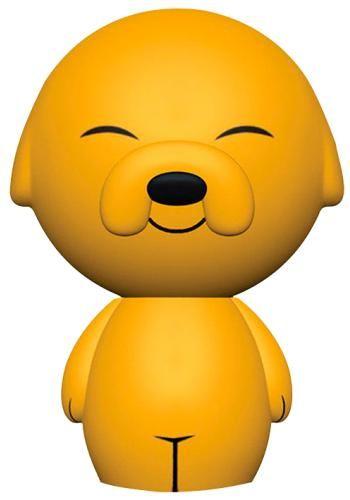 Statuetta da collezione Jake di Adventure Time. La collezione Dorbz del brand Funko è caratterizzata da personaggi leggermente più piccoli e tondeggianti (dalla testa ai piedi) rispetto a quelli della Pop!.