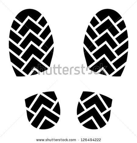 vector clean shoe imprints - stock vector