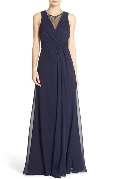 Eliza J Embellished Chiffon Fit & Flare Gown available at #Nordstrom