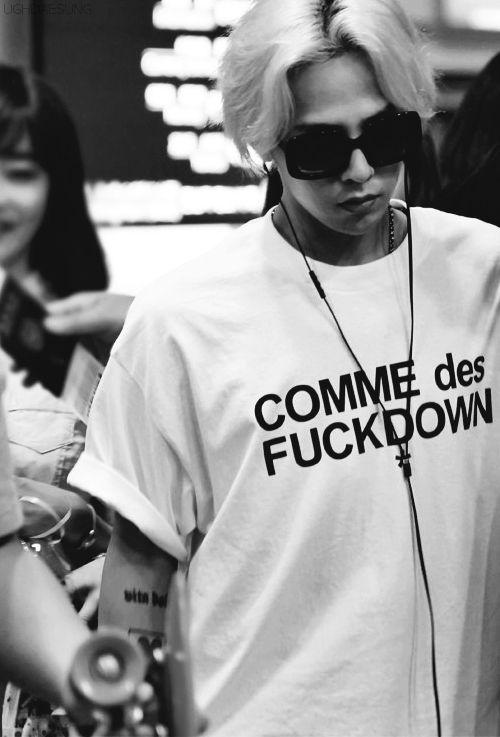 G-Dragon <3 that shirt is daebak!