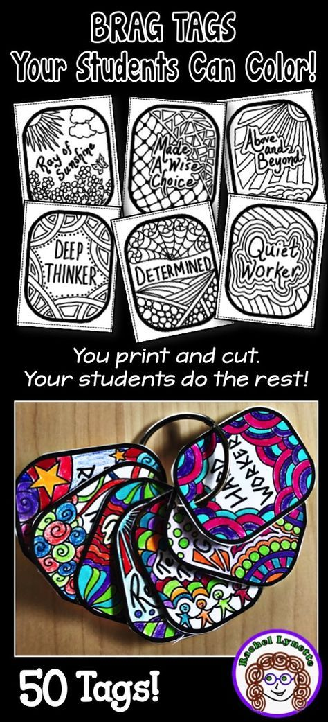 Brag Tags Your Students Can Color Everything You Need To Know