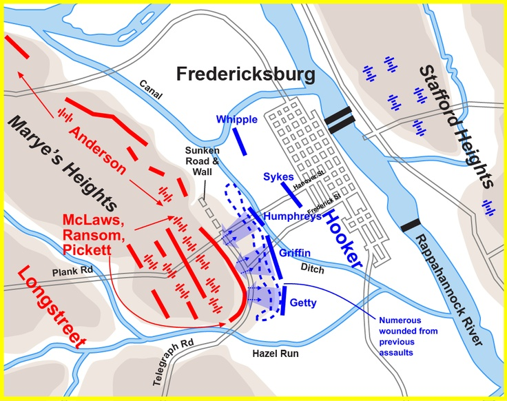 19 best the fredericksburg campaign images on pinterest america map fredericksburg hookerassault sciox Image collections
