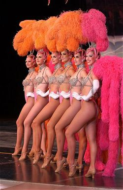 Jubliee dancers; Classic Las Vegas Showgirls wearing my favorite feathers