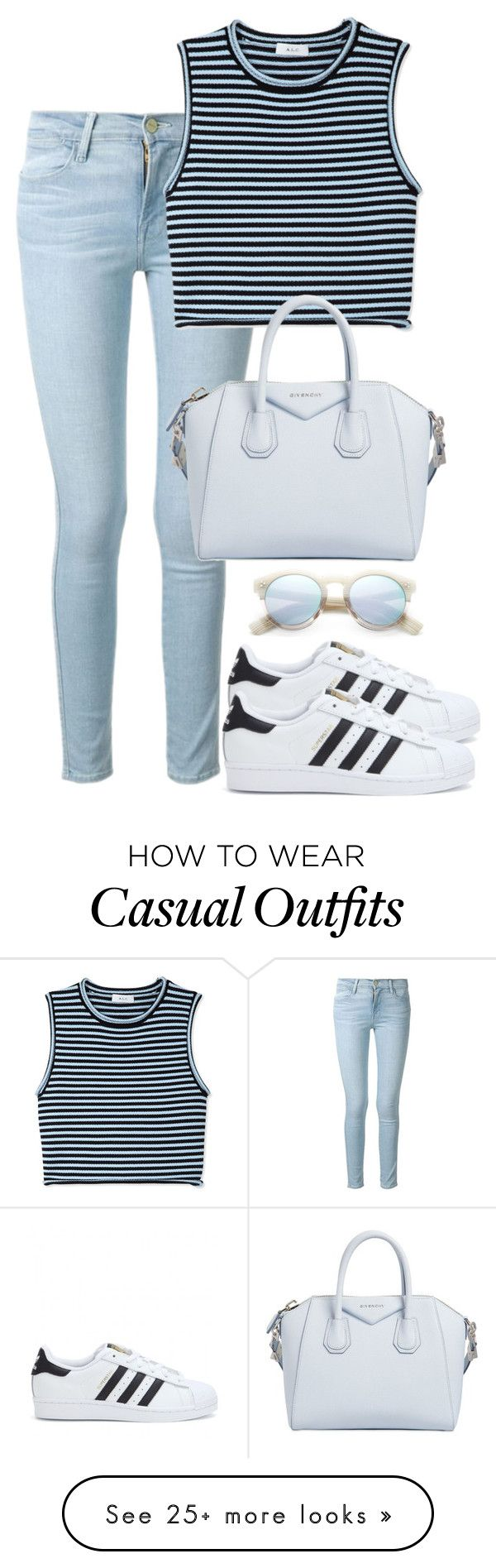 """L.A casual."" by gisille on Polyvore featuring moda, Frame Denim, A.L.C., adidas, Givenchy i Illesteva"