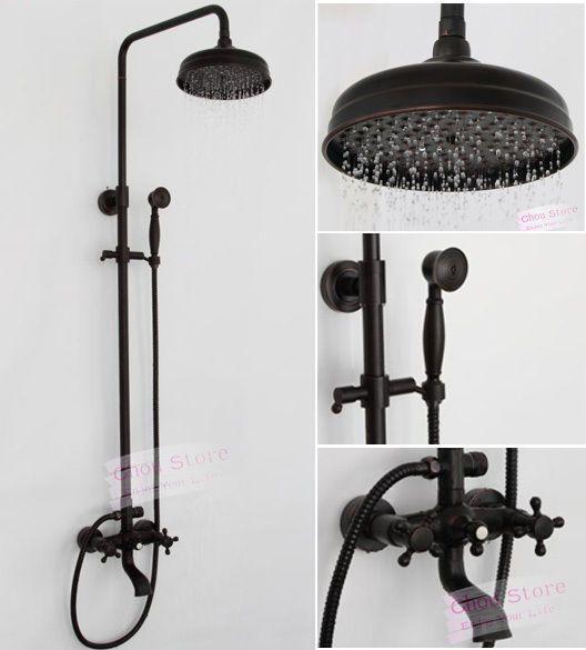 Oil Rubbed Bronze Bathroom Rain Shower Faucet Set Shower Kit B18F-A in Home & Garden, Home Improvement, Plumbing & Fixtures   eBay