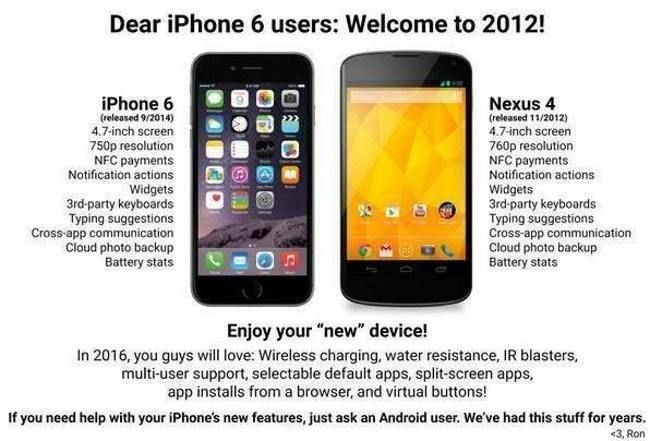 Android Vs Iphone Memes That Will Make You Laugh Out Loud Or Get Incredibly Angry Viraluck Iphone New Iphone 6 Nexus
