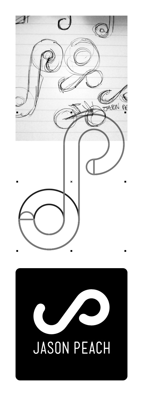 Logo design for Jason Peach, a professional mountain bike rider / athlete.