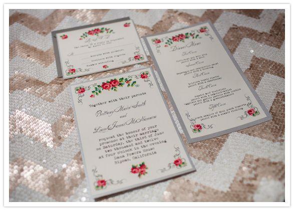 floral printed invitations